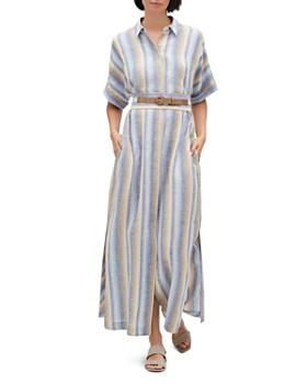 Lafayette 148 New York - Retha Striped Linen Shirt Dress
