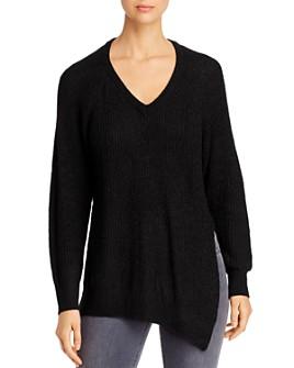 Elan - Asymmetric Side-Slit Sweater