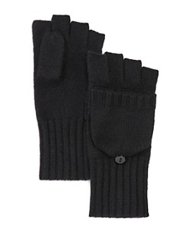 C by Bloomingdale's - Ribbed Pop-Top Cashmere Gloves - 100% Exclusive