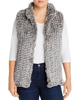 AQUA Curve - Faux-Fur Vest - 100% Exclusive