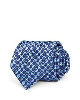 Canali - Round Medallion Herringbone Silk Classic Tie
