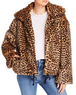 Rebecca Minkoff - Brigit Faux-Fur Leopard-Print Jacket