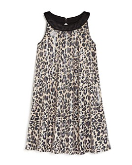 US Angels - Girls' Sequined Cheetah Print Dress - Little Kid