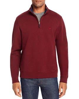 Brooks Brothers - Knit Cotton Terry Half-Zip Sweater