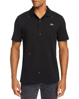 Lacoste - Rose Embroidered Regular Fit Polo Shirt - 100% Exclusive