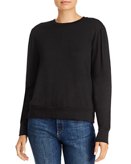 LNA - Ariel Gathered-Shoulder Sweatshirt