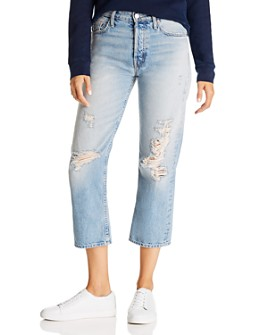 MOTHER - The Huffy Flood High-Rise Straight-Leg Jeans in Mercy