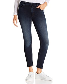 MOTHER - The Looker High-Rise Ankle Fray Skinny Jeans in Last Call