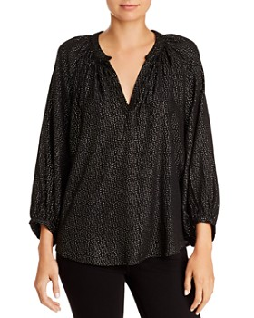 Velvet by Graham & Spencer - Shirley Metallic Dot-Print Blouse
