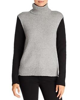 Velvet by Graham & Spencer - Color-Blocked Turtleneck Sweater - 100% Exclusive