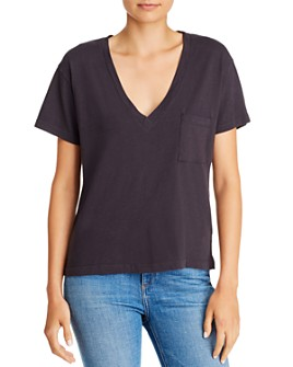 LNA - V-Neck Cotton Pocket Tee