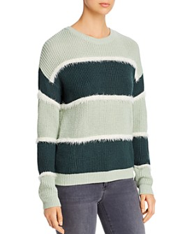 Vero Moda - Josephine Fuzzy-Stripe Sweater