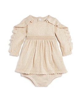 Miniclasix - Girls' Ruffled Sparkle Dress & Bloomers Set - Baby
