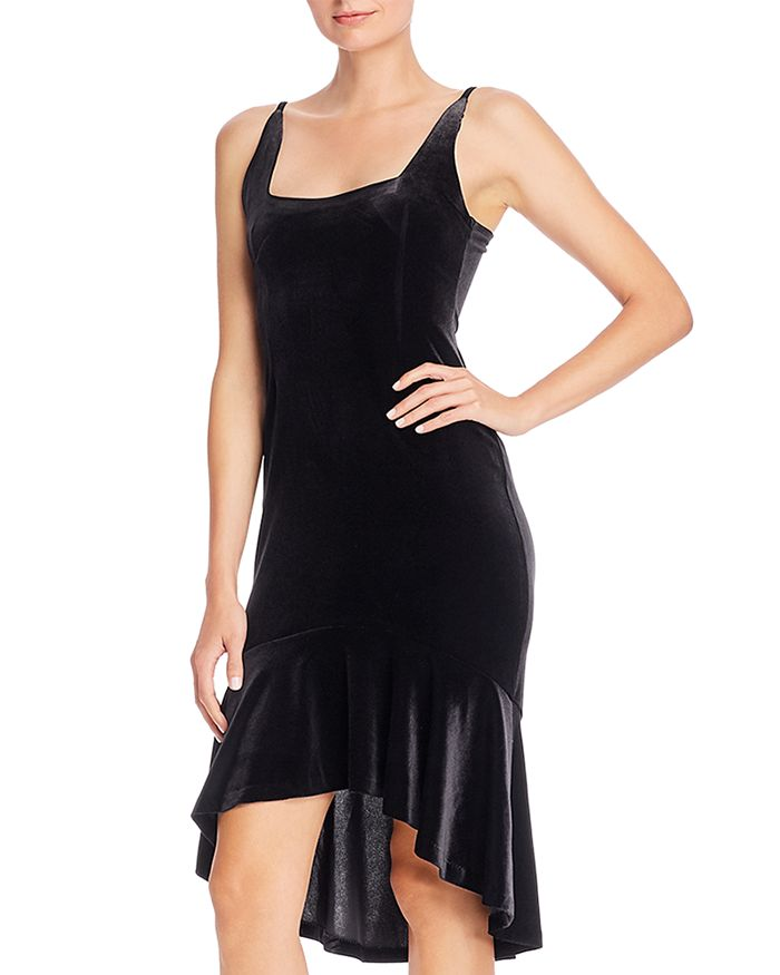 AQUA - Velvet Trumpet Dress - 100% Exclusive