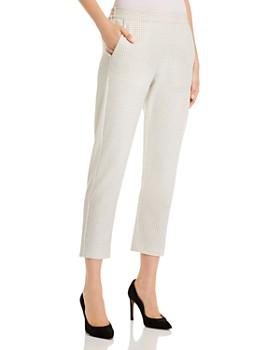 Piazza Sempione - Hilary Cropped Check-Pattern Pants