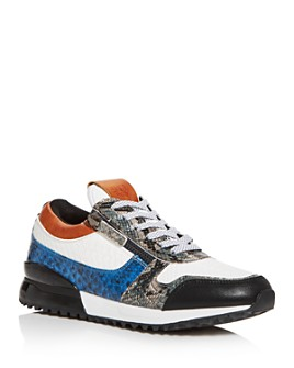 SNKR Project - Men's Rodeo Snake-Embossed Color-Block Low-Top Sneakers