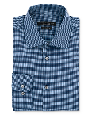 John Varvatos Star Usa Micro Gingham Regular Fit Dress Shirt
