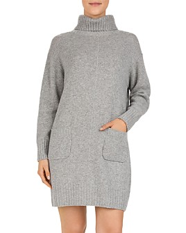 Gerard Darel - Dinah Wool & Cashmere Turtleneck Sweater Dress