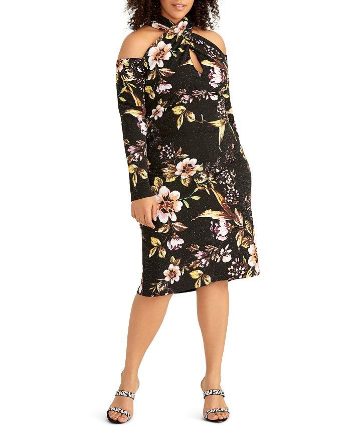 Rachel Roy Plus - Simone Tropical Glimmer Knit Dress