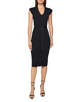 REISS - Amelie Ribbed Knit Bodycon Dress
