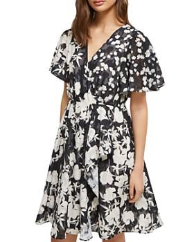 FRENCH CONNECTION - Bamba Devoré Floral Mini Dress