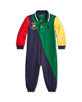 Ralph Lauren - Boys' Color-Block Polo Coverall - Baby