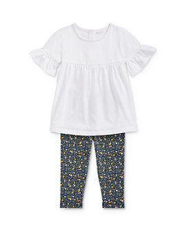 Ralph Lauren - Girls' Ruffled Top & Floral Leggings Set - Baby