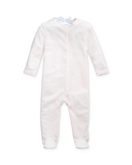 Ralph Lauren - Girls' Scalloped Velour Footie - Baby