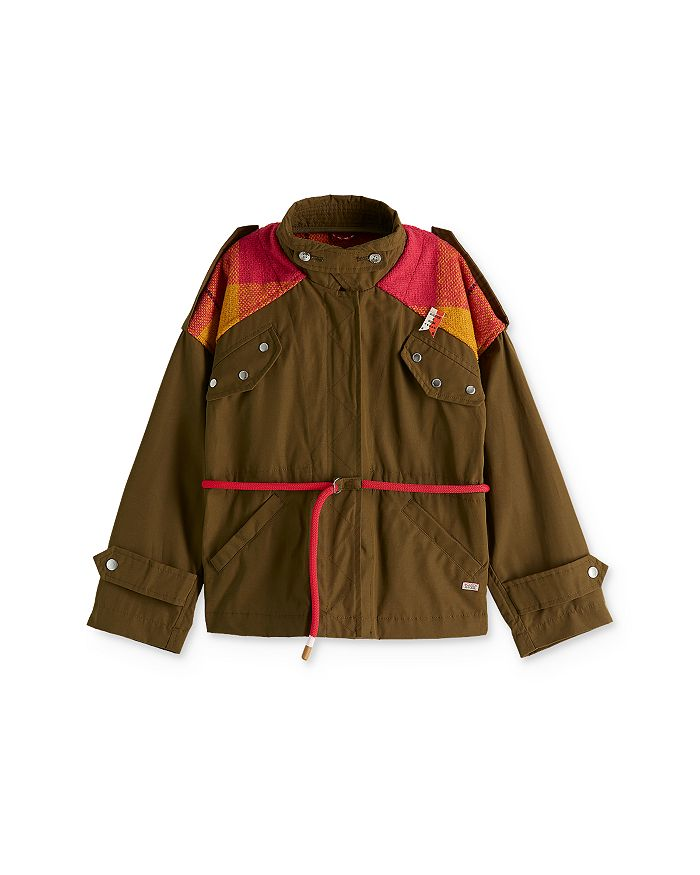 Scotch R'Belle - Girls' Patched Military Jacket - Little Kid, Big Kid