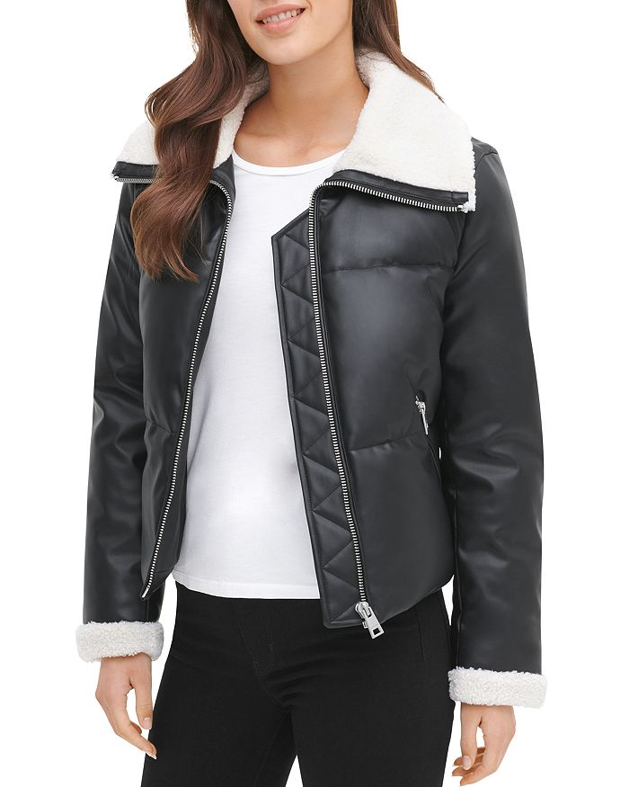 Levi's - Faux Leather & Faux Shearling Quilted Jacket