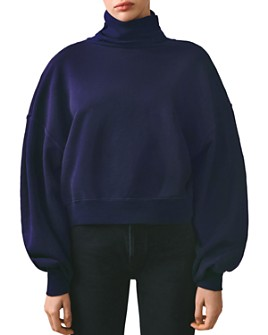 AGOLDE - Balloon-Sleeve Turtleneck Sweatshirt