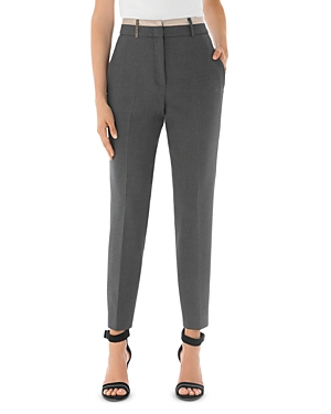 Peserico Tapered Contrast-Waist Pants-Women