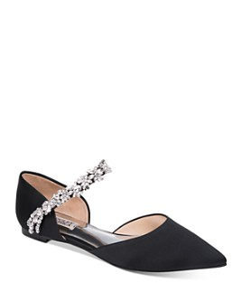 Badgley Mischka - Women's Erin Crystal-Embellished d'Orsay Flats