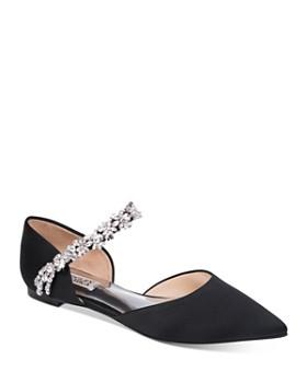 Badgley Mischka - Women's Erin Crystal-Embellished d'Orsay Flats