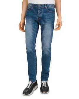 The Kooples - Japanese Denim Straight Slim Jeans in Blue Denim