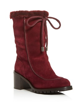 Jimmy Choo - Women's Buffy 65 Shearling Block-Heel Boots