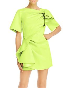 Acler - Bronte Scuba Gathered Mini Dress