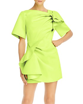 Acler - Bronte Scuba Gathered Mini Dress