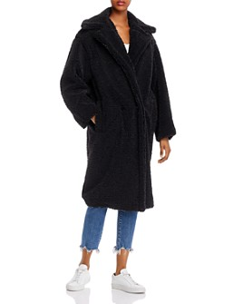 Apparis - Daryna Double-Breasted Sherpa Coat