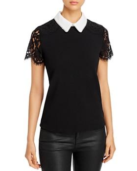 KARL LAGERFELD Paris - Lace-Sleeve Top