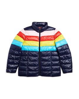 AQUA - Girls' Packable Rainbow Puffer Jacket, Big Kid - 100% Exclusive