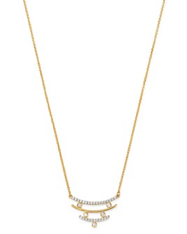 Bloomingdale's - Diamond Triple-Row Pendant Necklace in 14K Yellow Gold, 0.15 ct. t.w. - 100% Exclusive