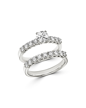 Bloomingdale's Diamond Engagement Ring Set in 14K White Gold, 1.50 ct. t.w. - 100% Exclusive