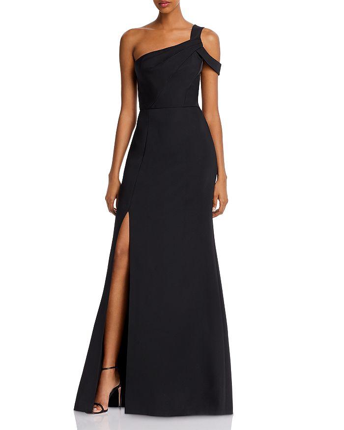 BCBGMAXAZRIA - Matte Satin One-Shoulder Gown