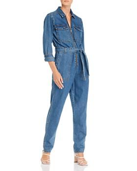 Sunset & Spring - Zip-Front Denim Boilersuit - 100% Exclusive