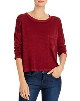rag & bone - The Cropped Long-Sleeve Tee