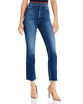 MOTHER -  The Hustler Ankle Fray Flared Jeans in Night Clubbing