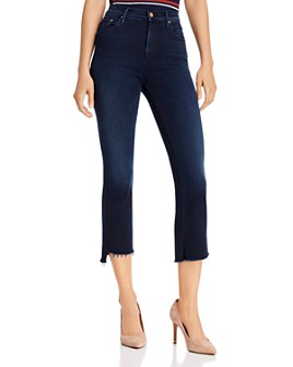 MOTHER - The Insider Crop Step Fray Flared Jeans in After Party