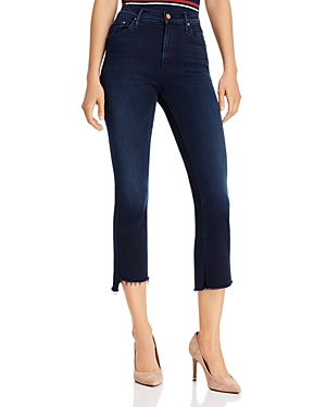 Mother Jeans THE INSIDER CROP STEP FRAY FLARED JEANS IN AFTER PARTY
