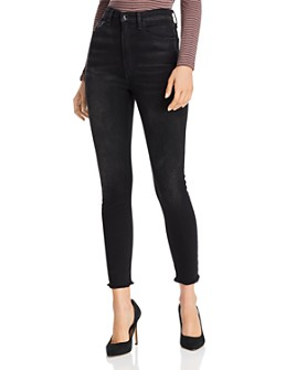 rag & bone - Jane Super High-Rise Frayed Skinny Jeans in Jardine